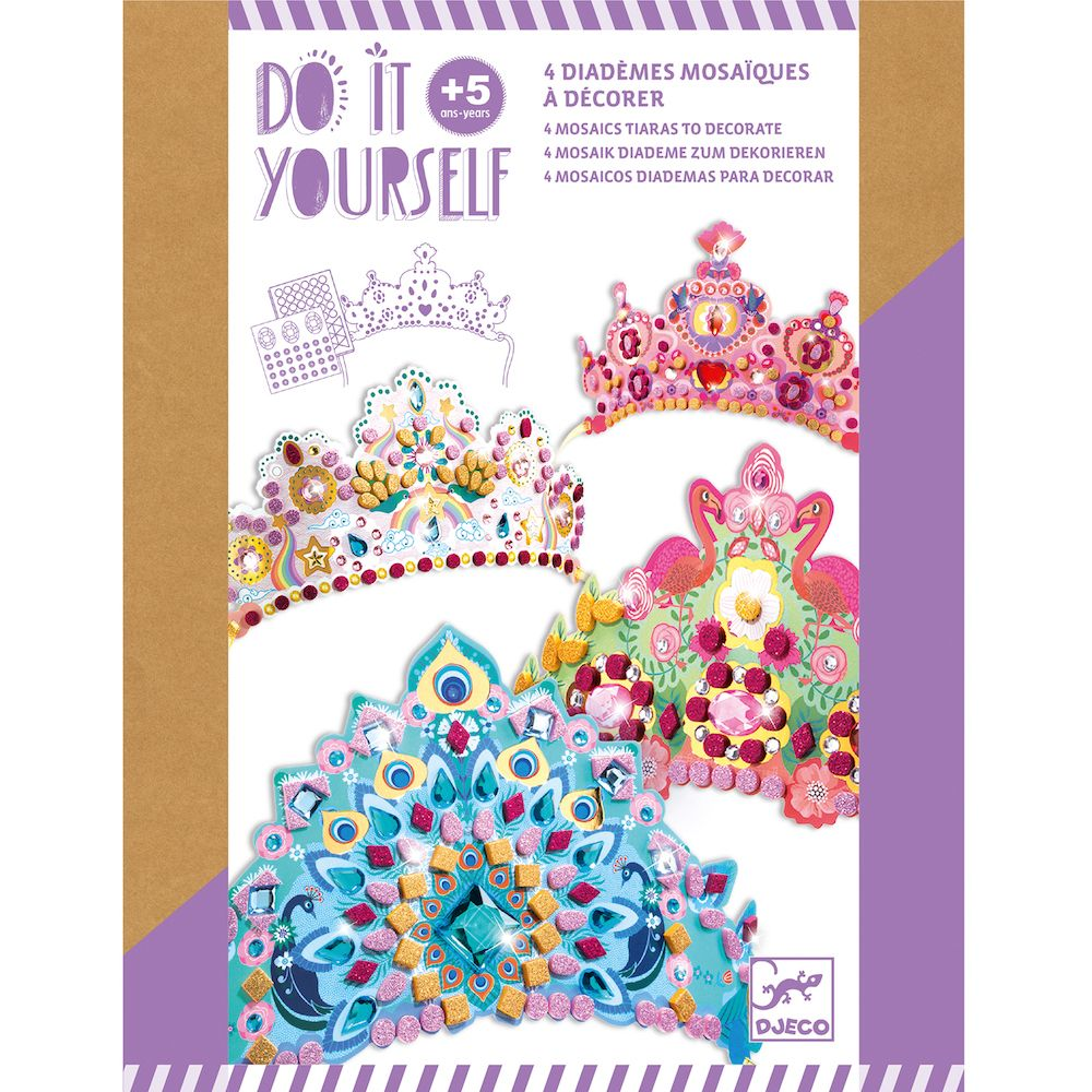 Djeco Do It Yourself - Mosaic Tiaras - Like a Princess