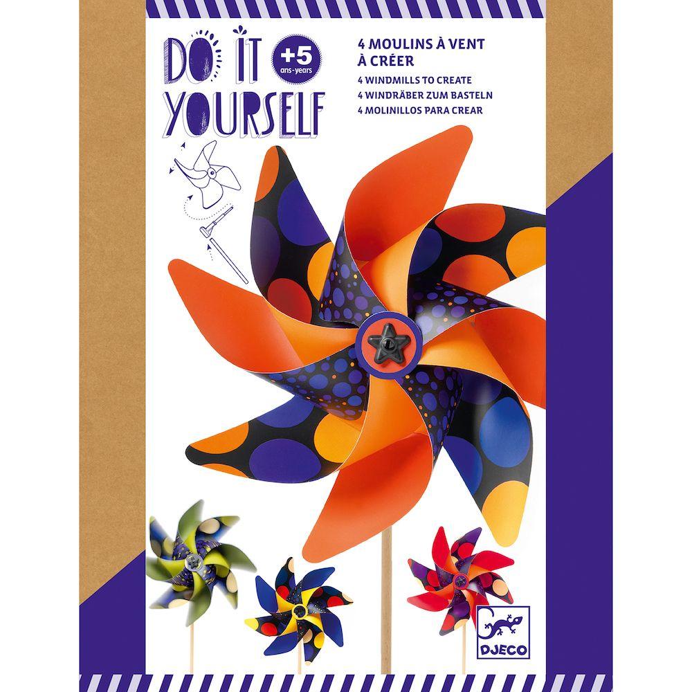 Djeco Do It Yourself - 4 Windmills to Create Sweet
