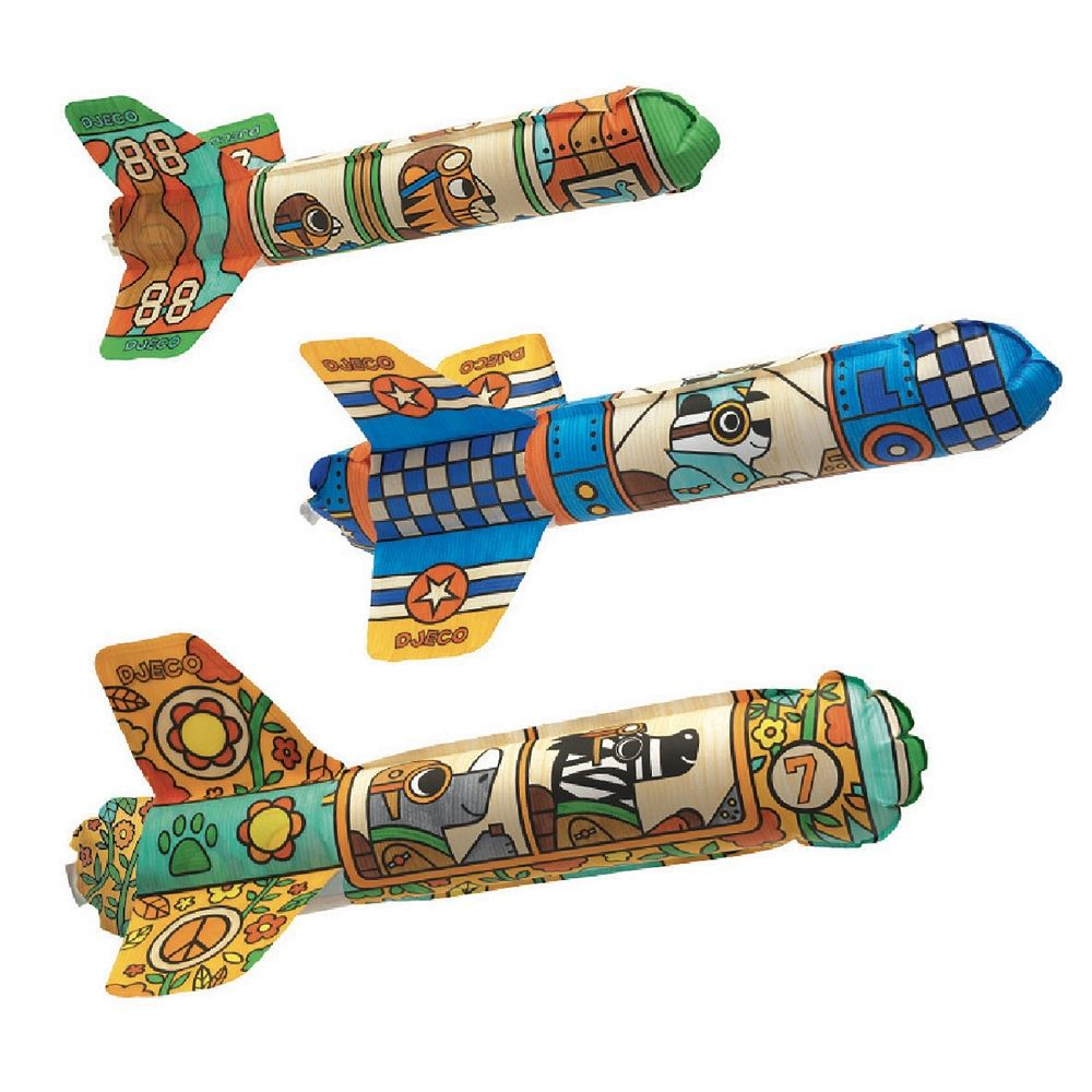 Djeco Do It Yourself - 3 Rocket Ships to Colour