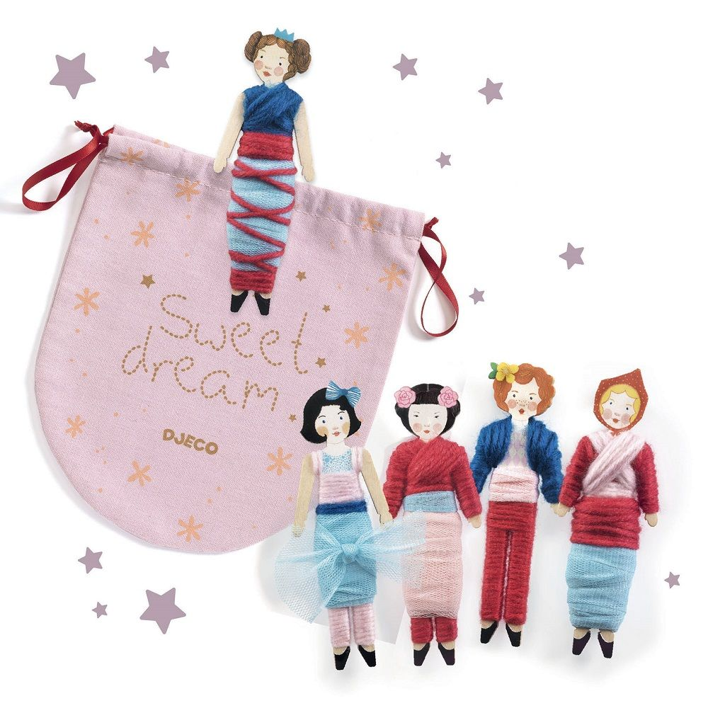 Djeco Do It Yourself - 5 worry dolls to create