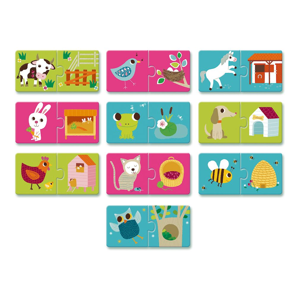 Djeco Educational Toddler Puzzle Duo - Habitat