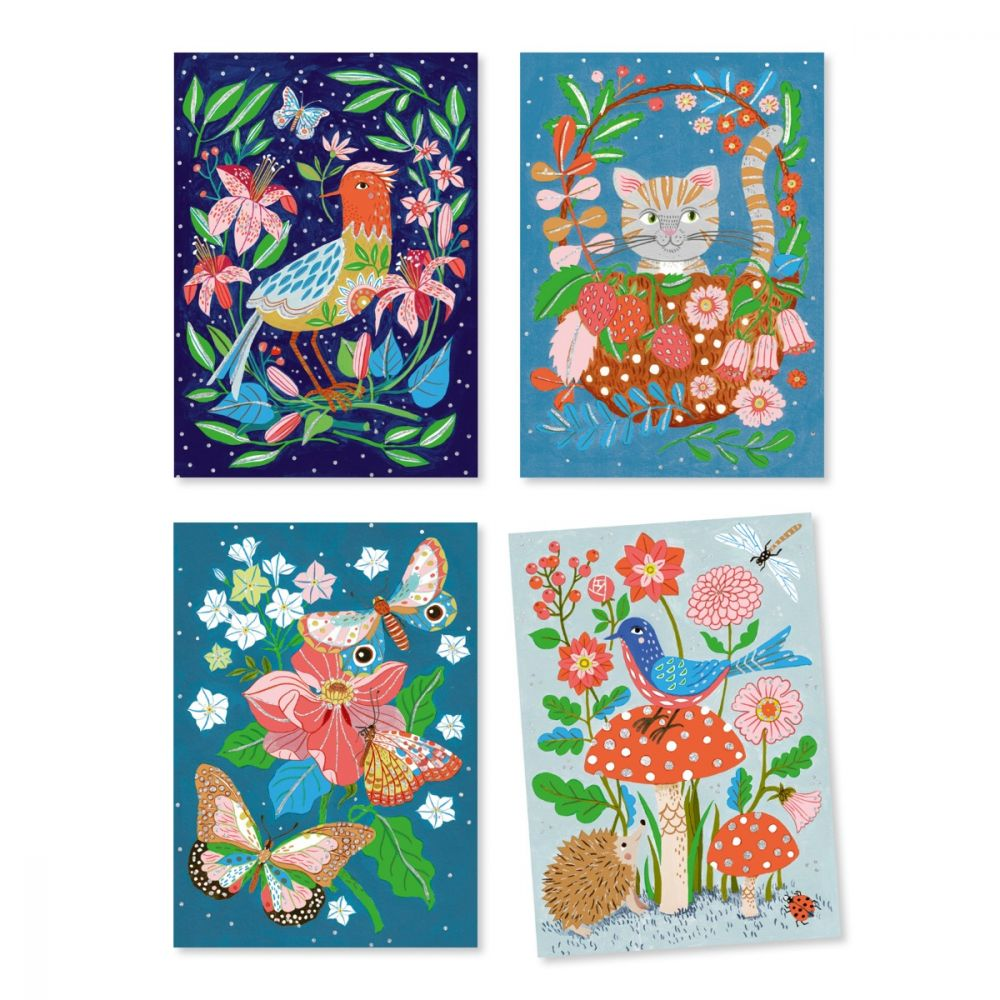 Djeco Art by Numbers Felt Brushes - In the Garden