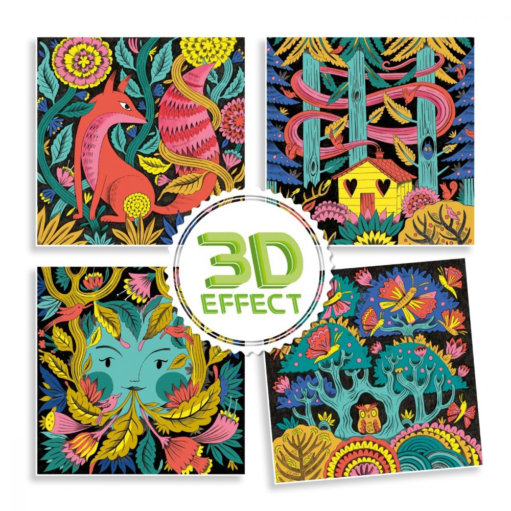 Djeco 3D Colouring - Fantasy Forest
