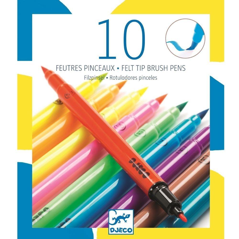 Djeco Felt Tips 10 Pop Colours