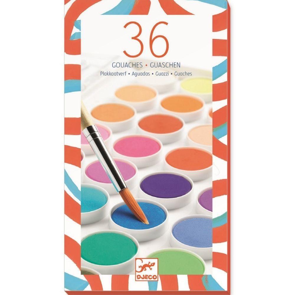 Djeco Paint Cakes 36 Colours
