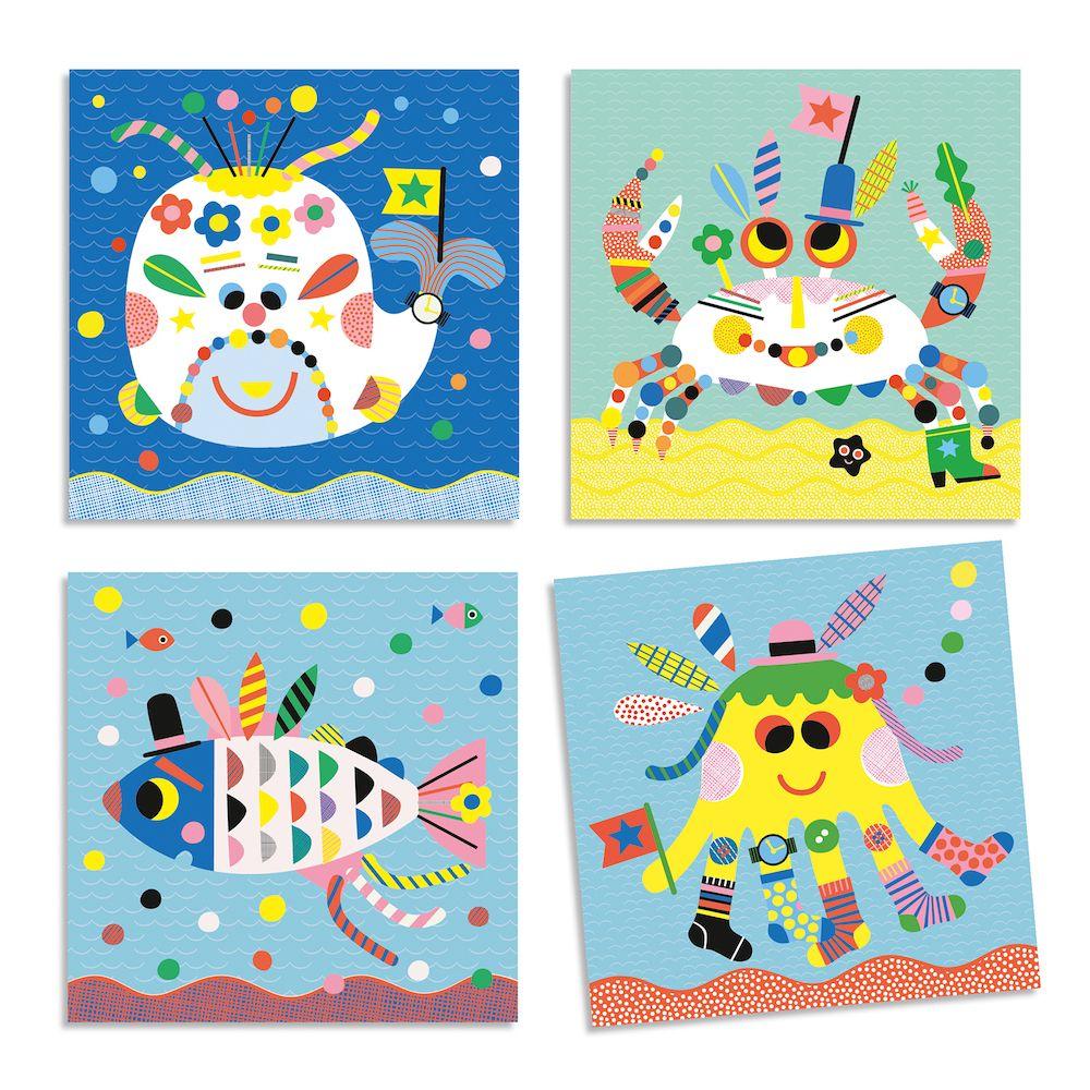 Djeco Create With Stickers - Sea Creatures