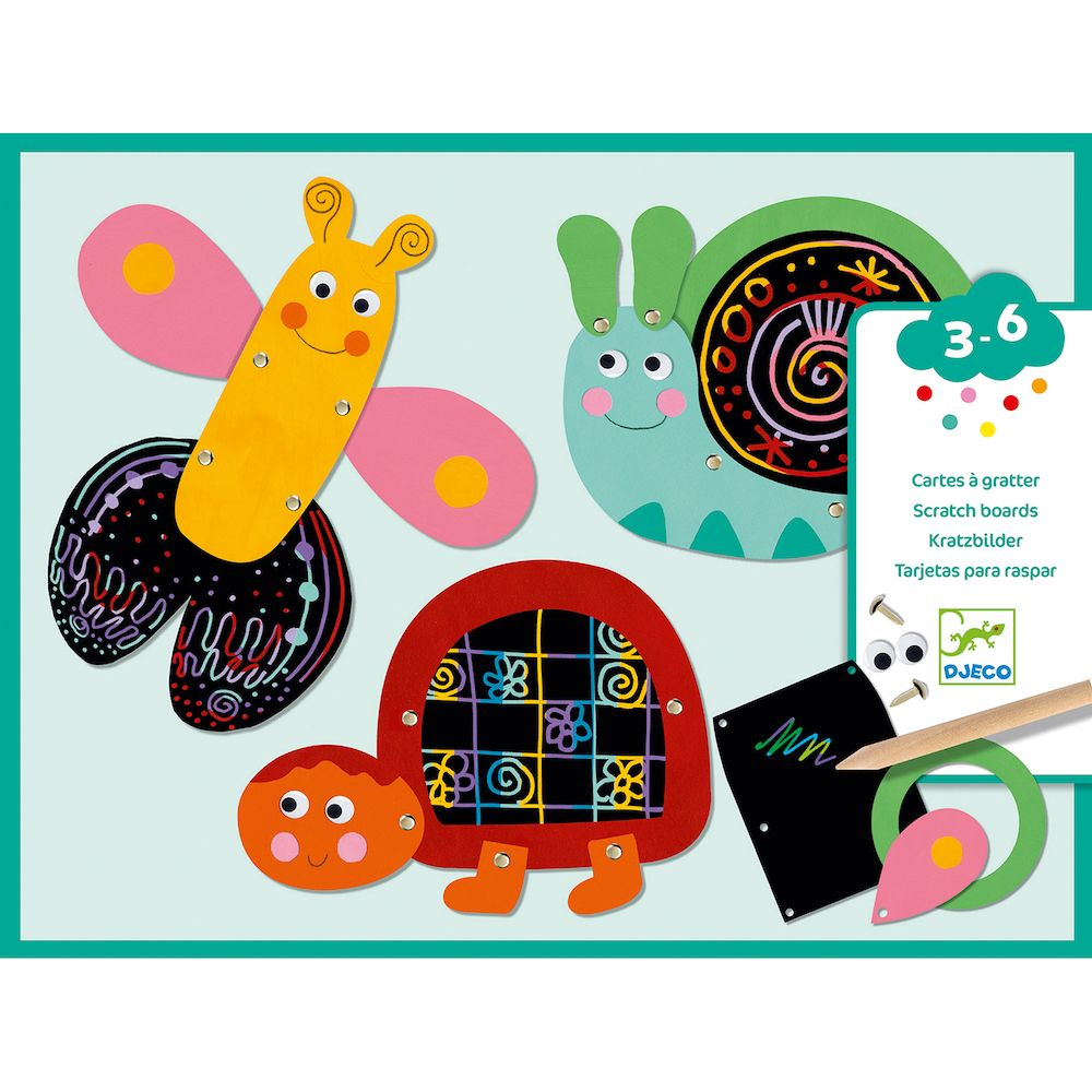 Djeco - Scratch The Funny Animals Scratch Boards