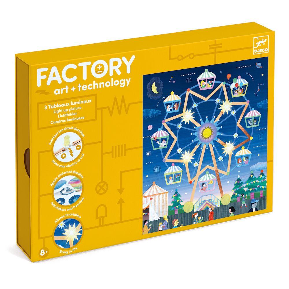 Djeco Factory Way Up High - light up cards