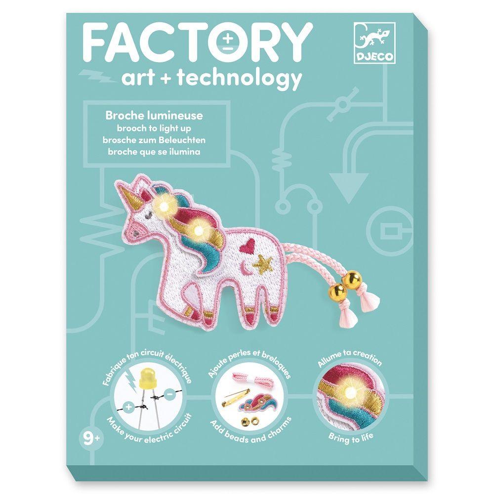 Djeco Factory Unicorn Brooch To Light Up