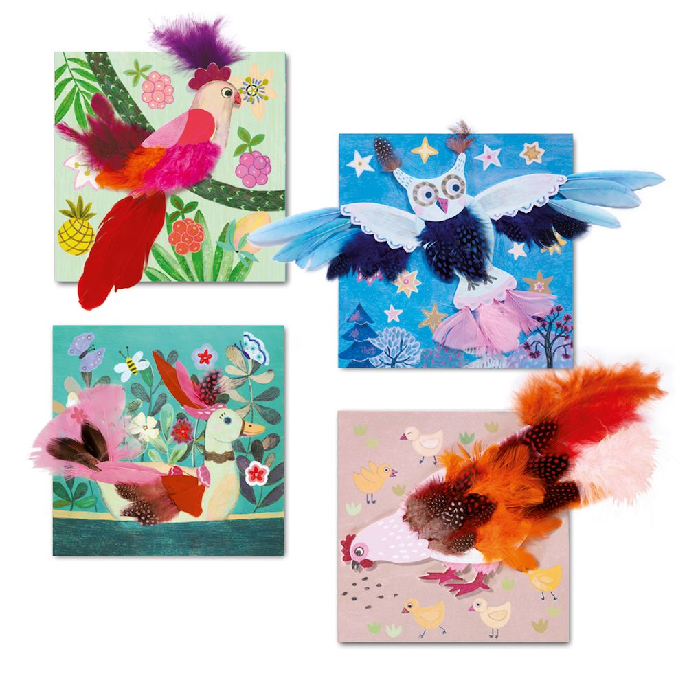 Create Feather Pictures - Djeco Chic Duvets