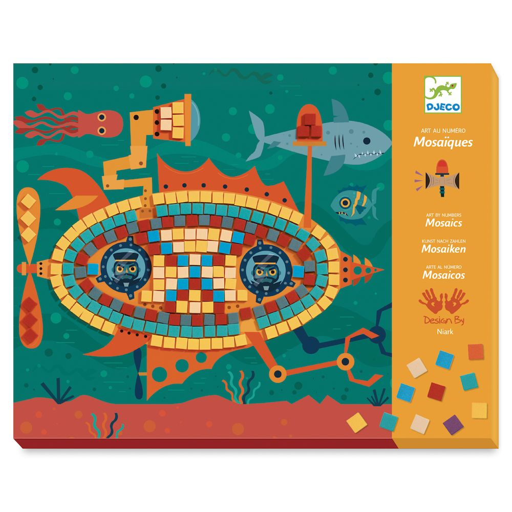 Djeco Mosaics Art by Numbers - Ace at the Wheel