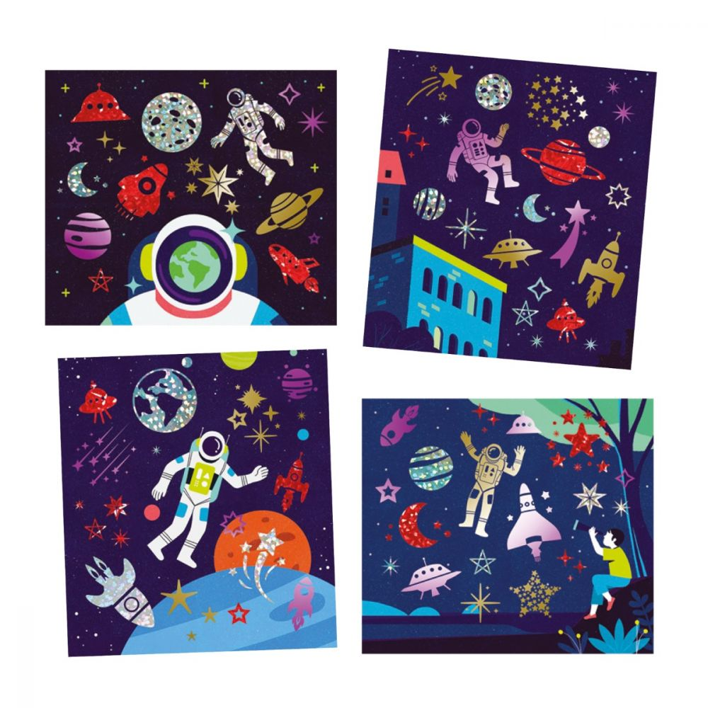 Djeco Artistic Patch Metal Collages - Cosmos