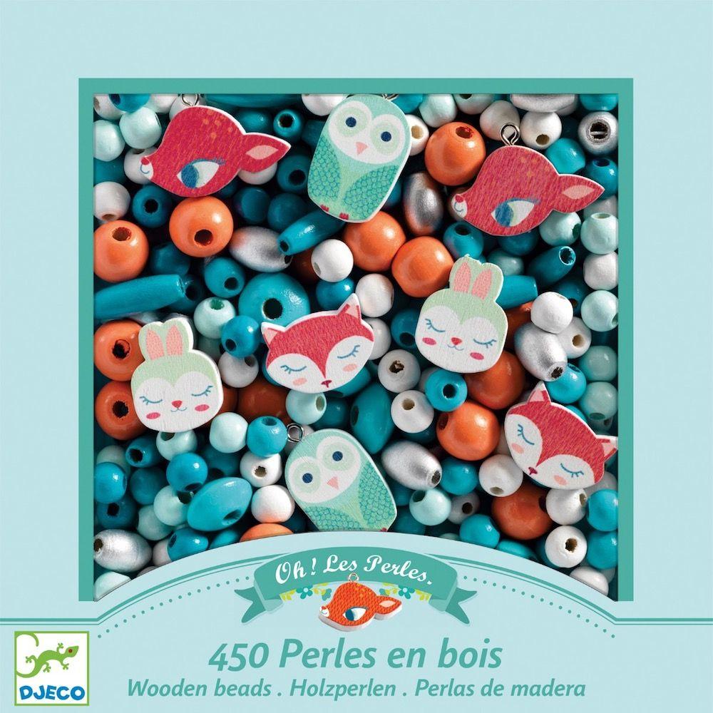 Djeco Wooden Threading Beads - Little Animals