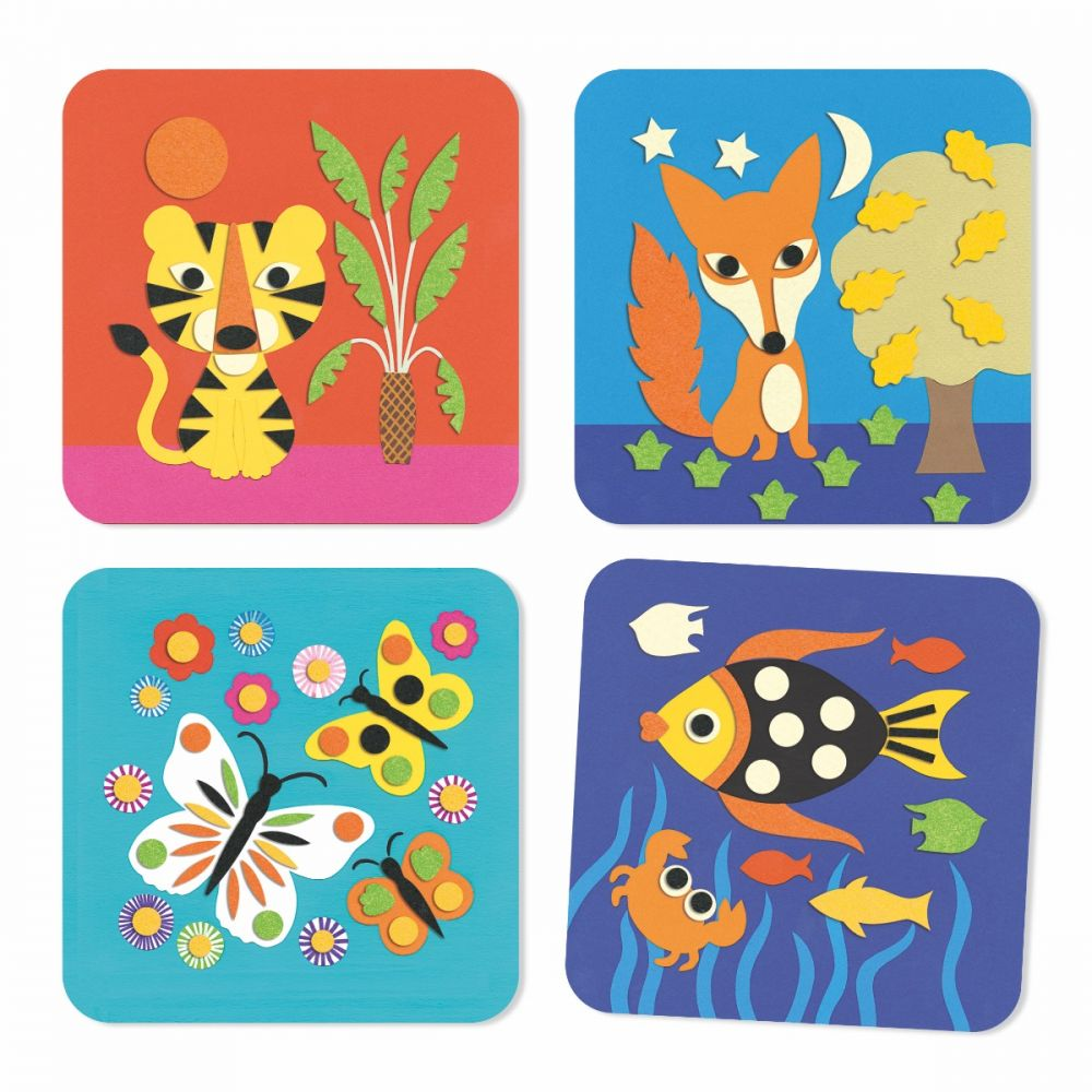 Animal Felt Pictures - Sweet Nature by Djeco