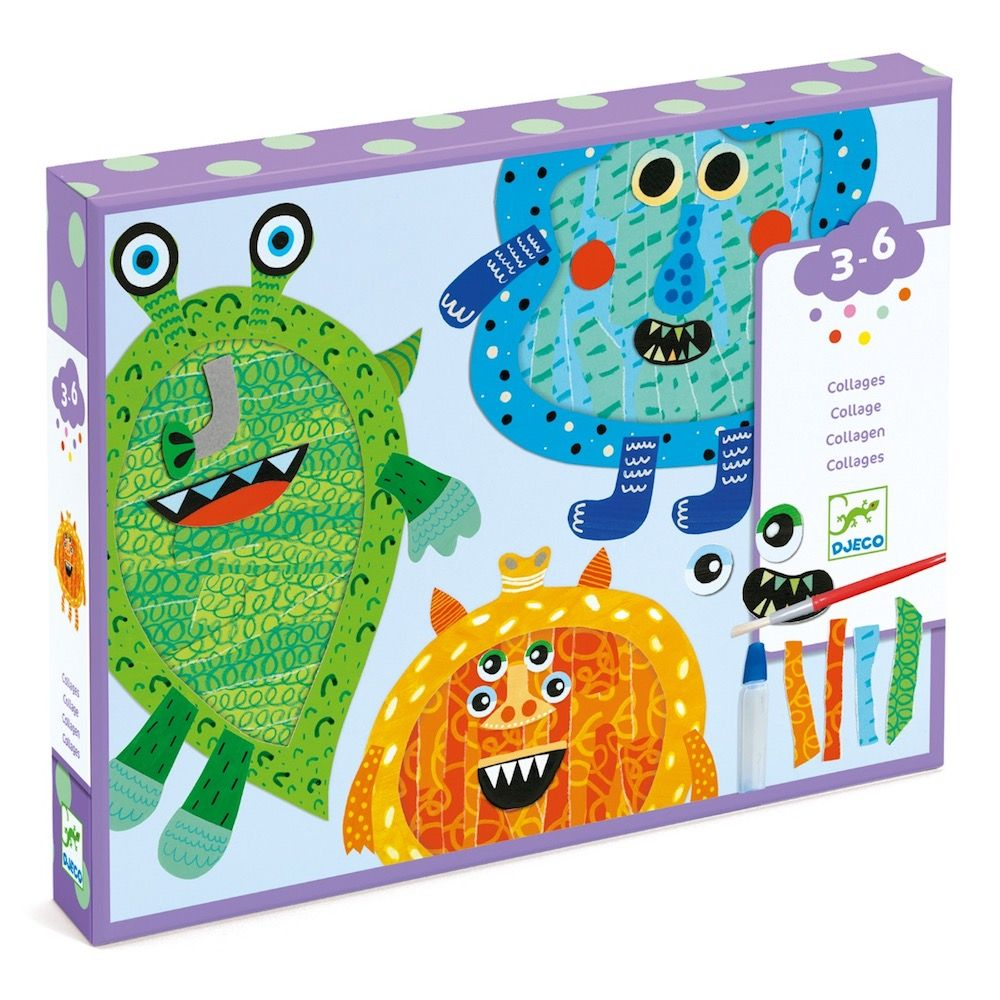 Djeco Collages - Happy Monsters