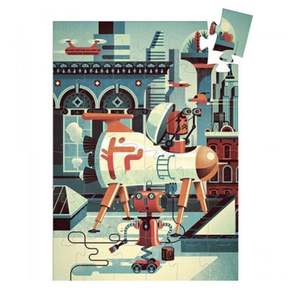 Djeco 36 Piece Silhouette Puzzle - Bob the Robot DJ07239