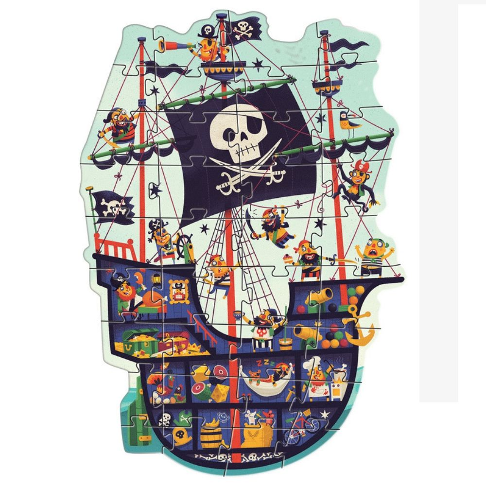 Djeco Giant Puzzles - The Pirate Ship