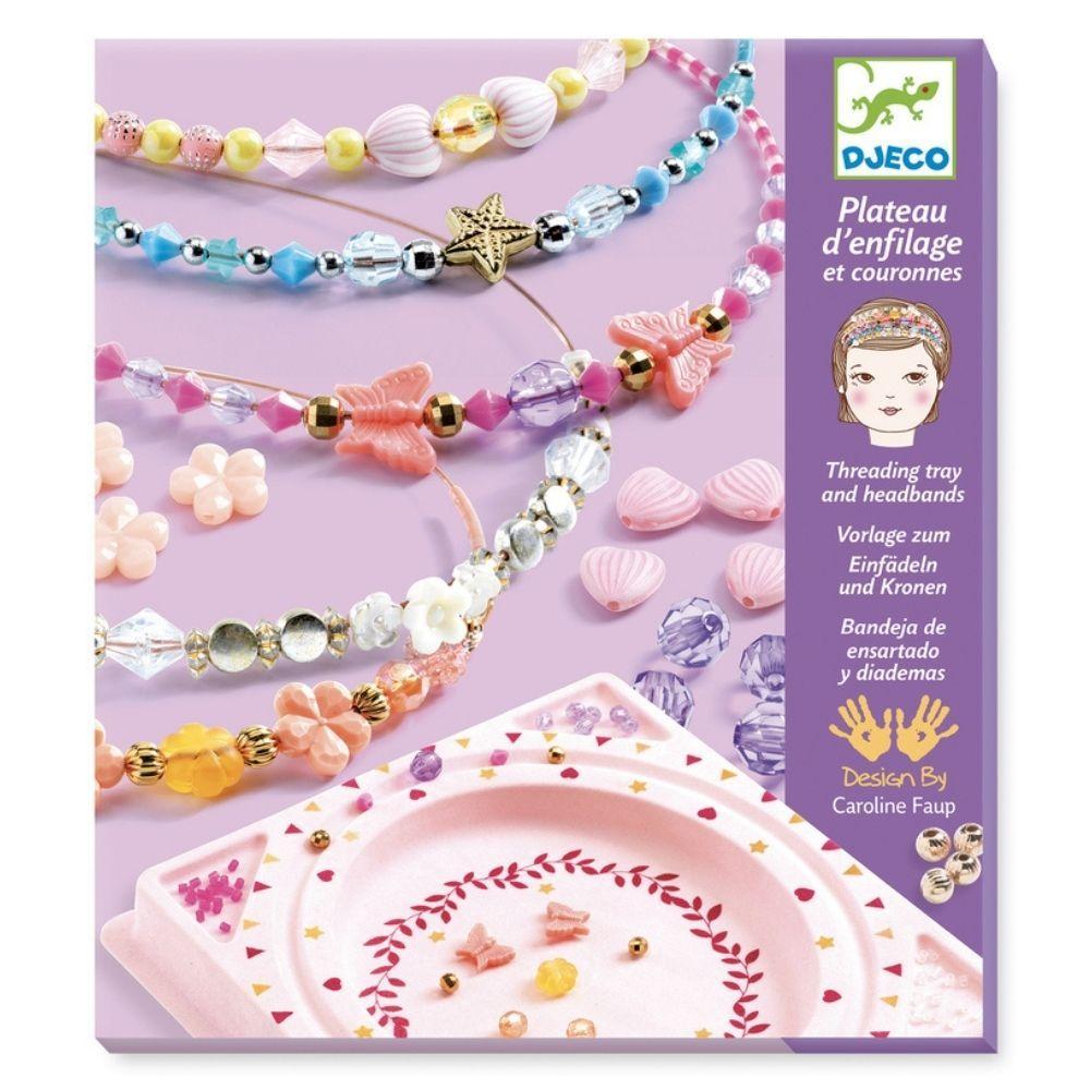 Djeco Headbands and Threading Tray - Precious