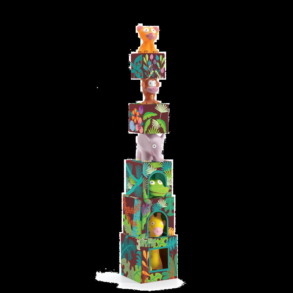 Djeco Maxi Topanijungle Stacking Cubes Toy