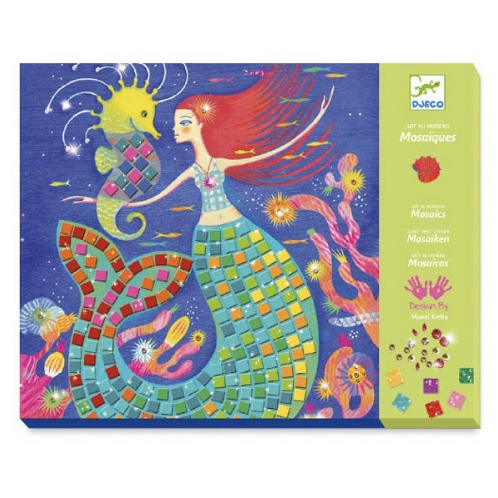 Djeco Mosaics Art by Numbers - The Mermaids' Song