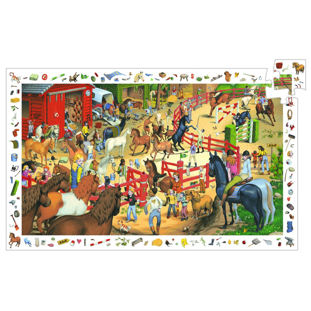 Djeco Observation Puzzle Horse Riding