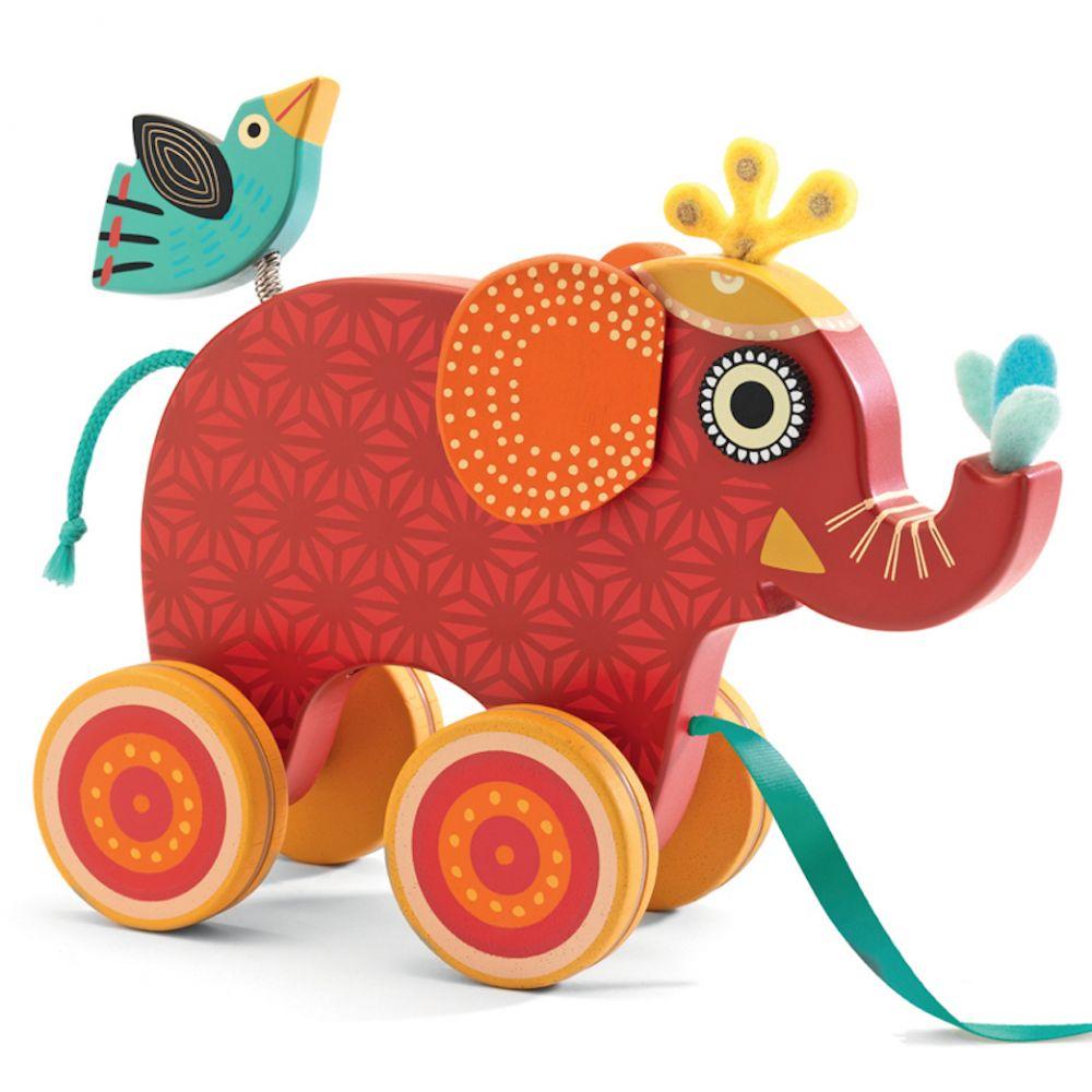 Djeco Pull Along Toy Elephant