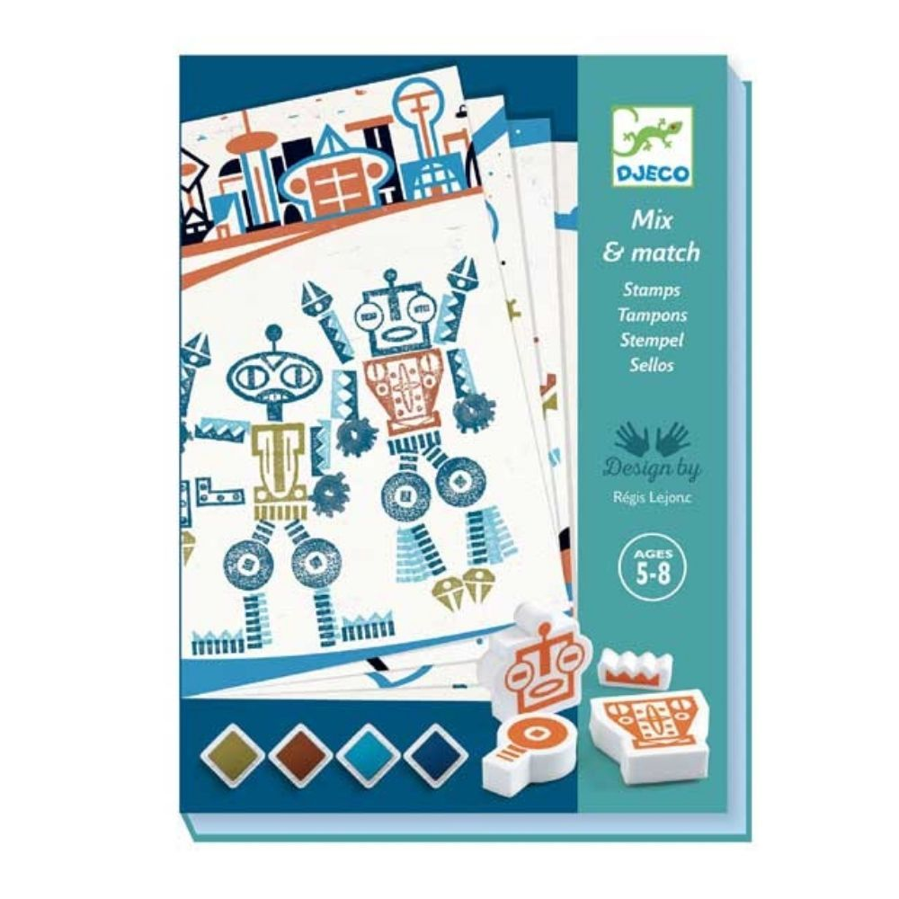 Djeco Stamps - Alien Robots