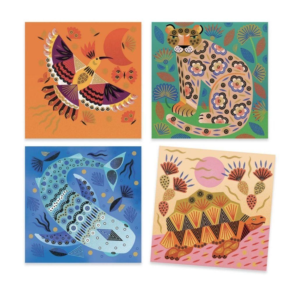 Djeco Stamps - Patterns & Animals
