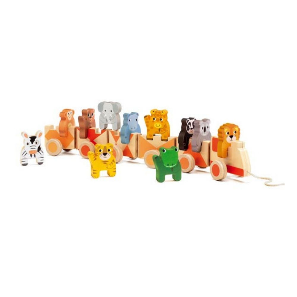 Djeco Trainimo Jungle Pull Along and Stacking Toy