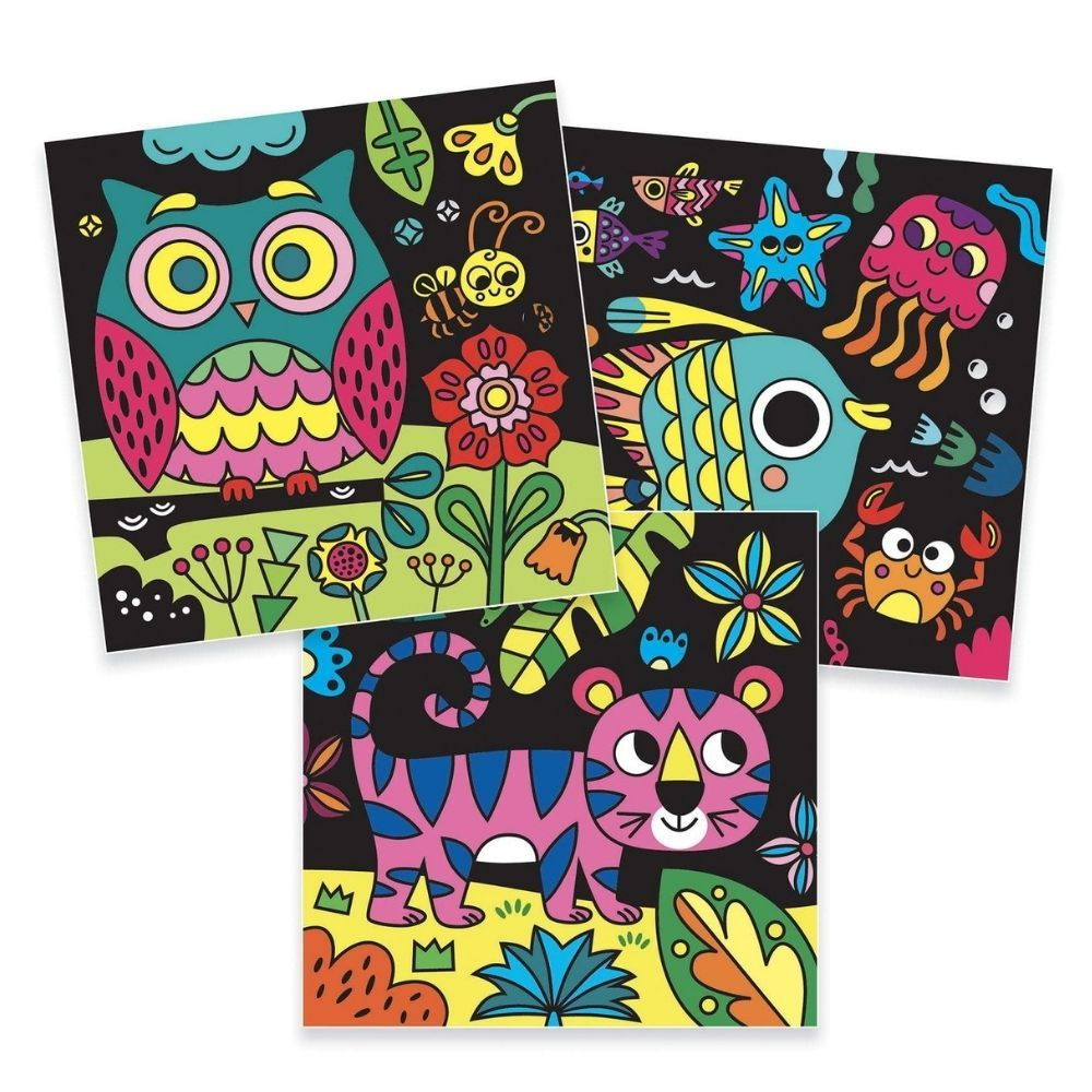 Djeco Velvet Colouring - At night there are... DJ09096