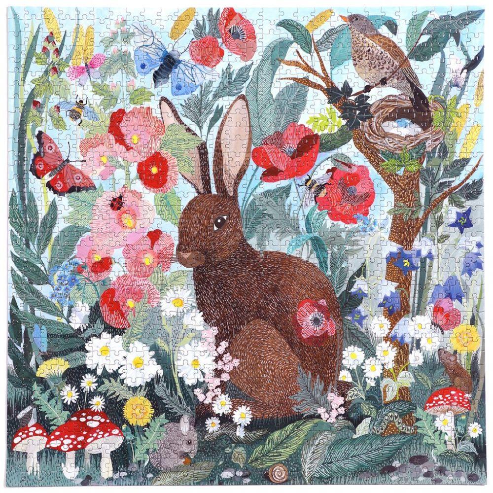 Eeboo 1000+ Piece Puzzle - Poppy Bunny