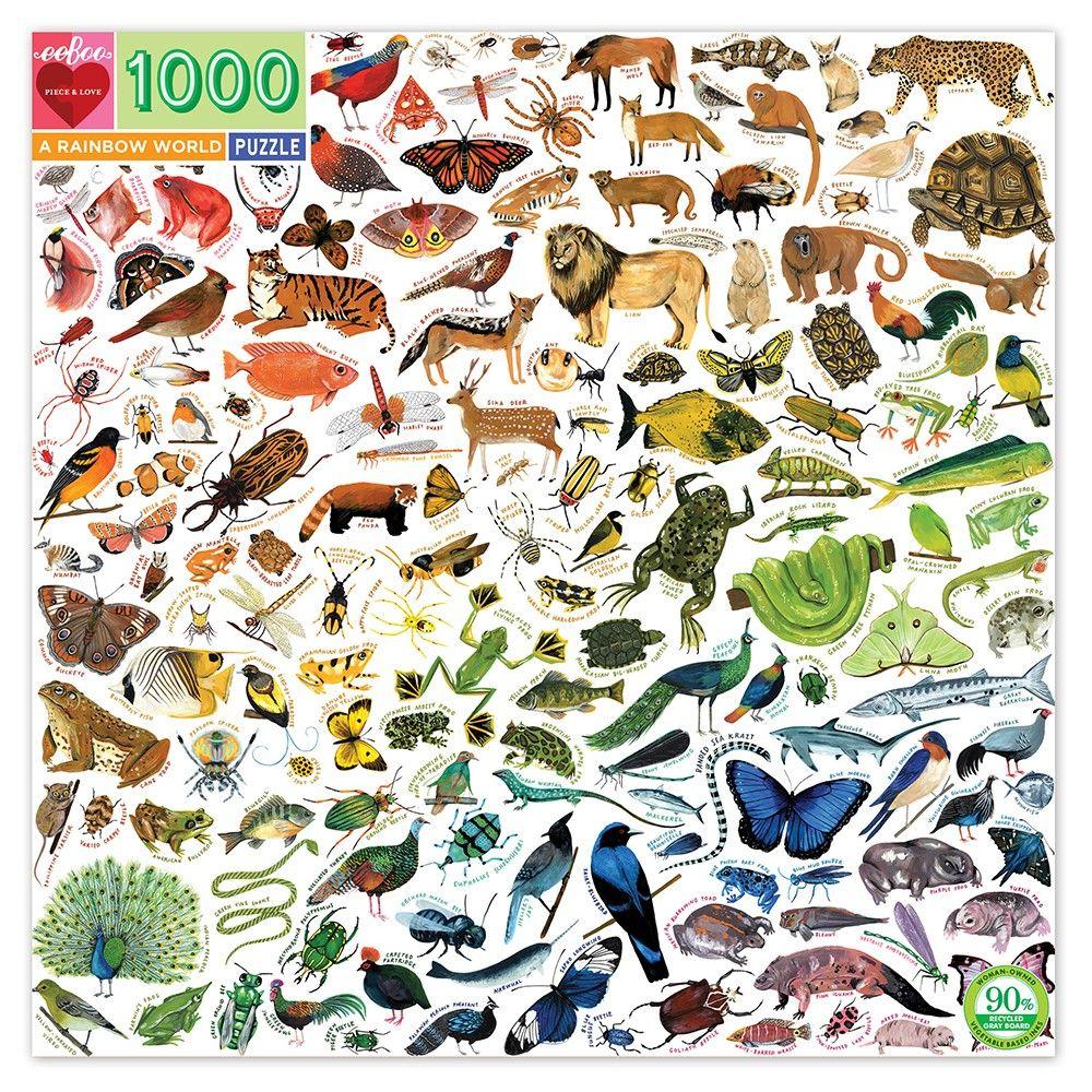 Eeboo A Rainbow World 1000 Piece Jigsaw Puzzle