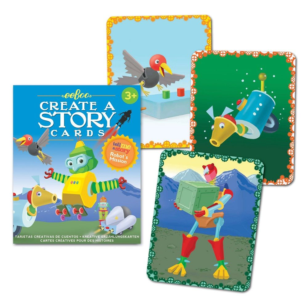 Eeboo Create A Story Cards - Robot's Mission