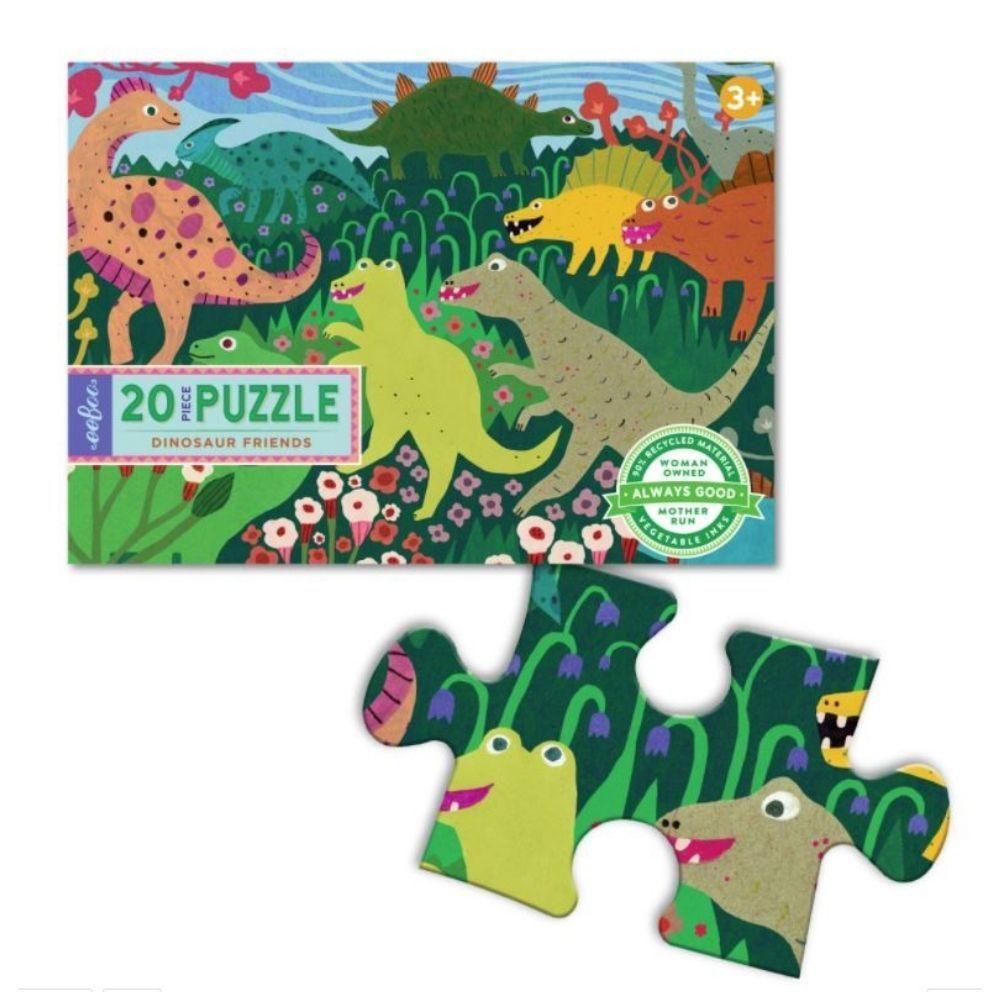 Eeboo Dinosaur & Friends  20 Piece Puzzle PZDOF