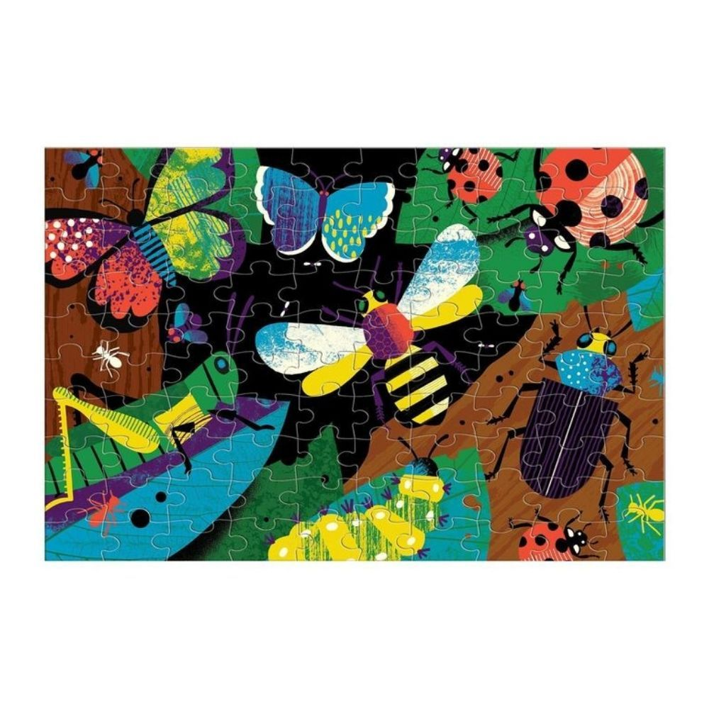 Mudpuppy Glow In The Dark Puzzle - Amazing Insects