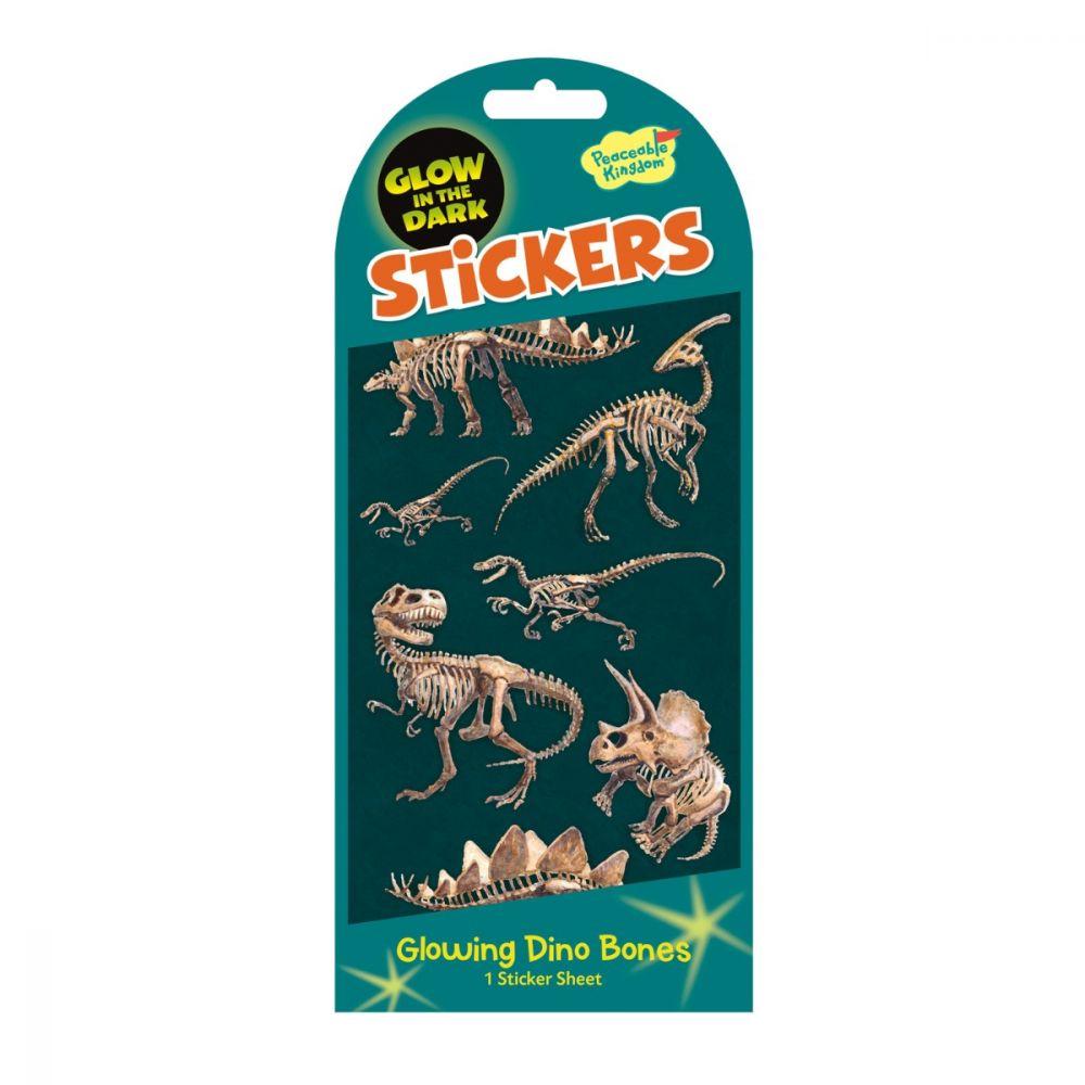 Peaceable Kingdom Glowing Dino Bones Stickers