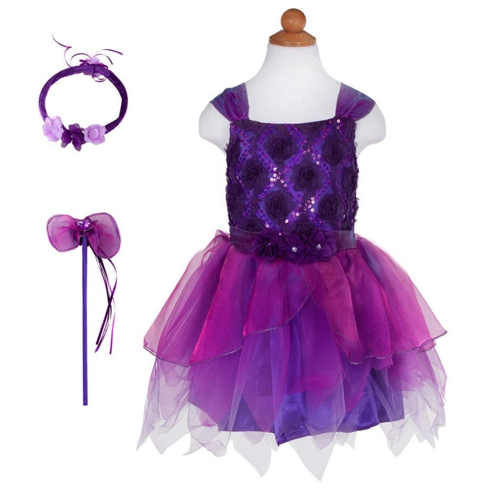 Great Pretenders - Violet Flower Fairy Wand and Halo 3789