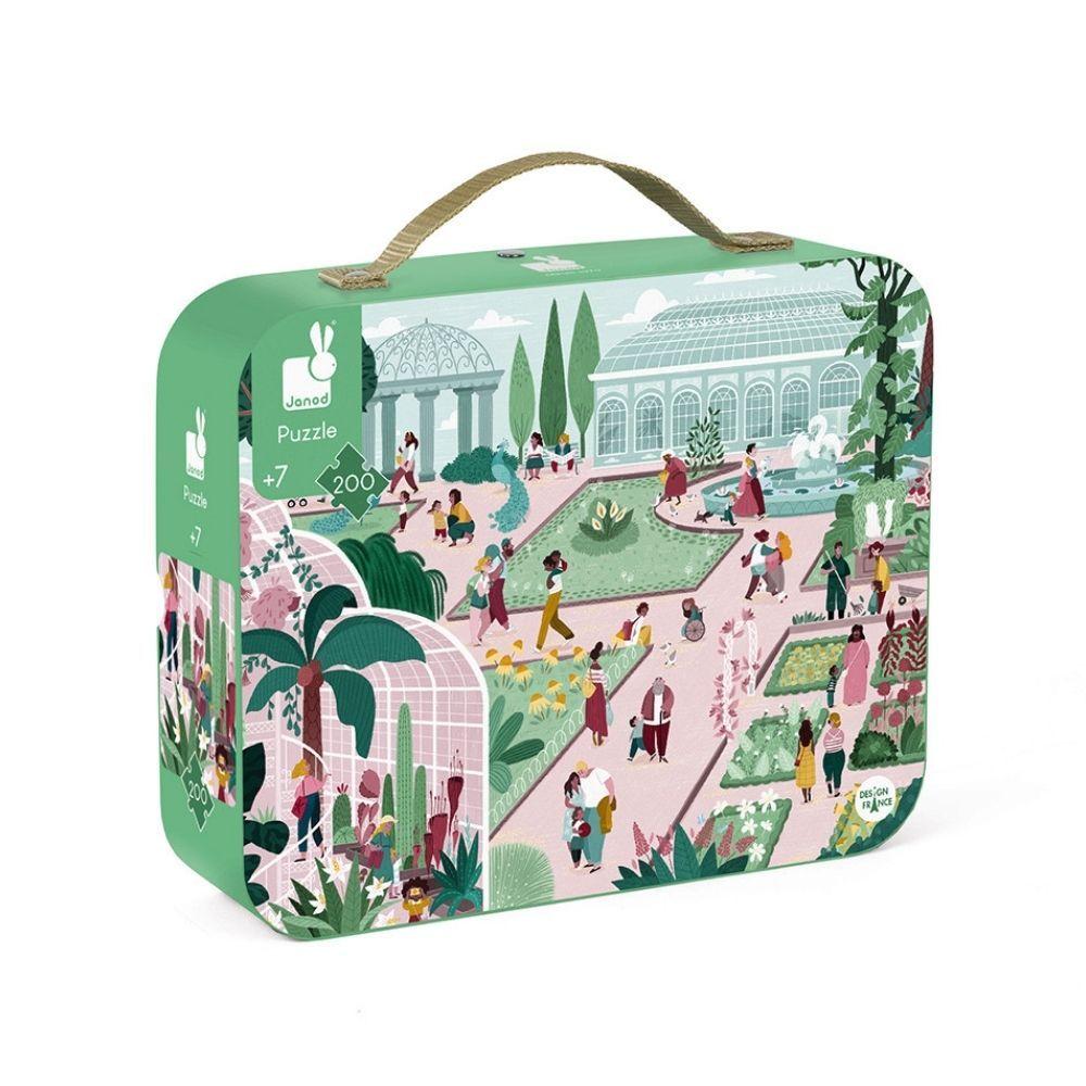 Janod Suitcase Botanical Garden Puzzle