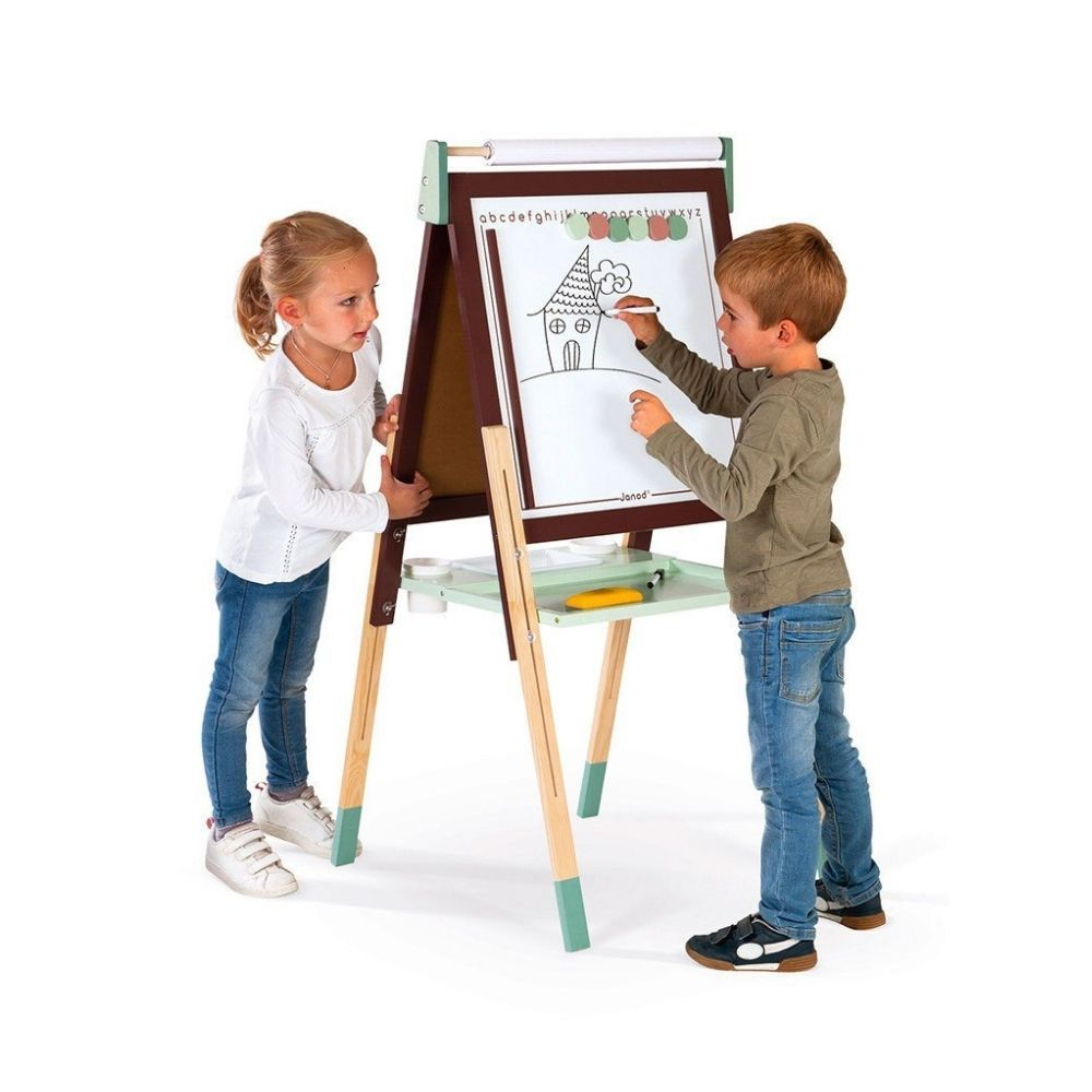 Janod Adjustable Easel & Accessories