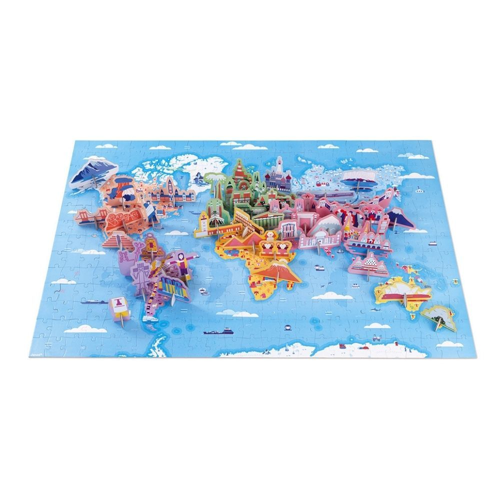 Janod Educational Puzzle - World Curiosities