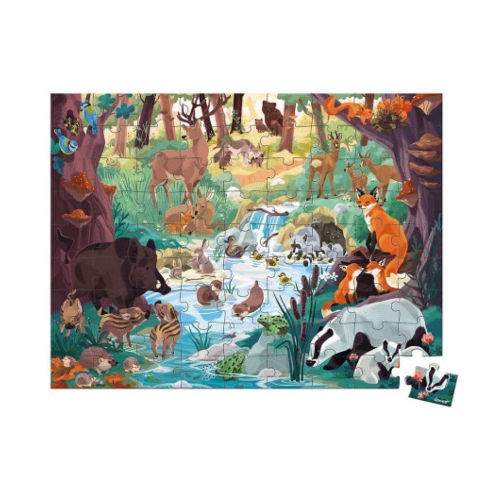 Janod Footprints Seek & Find WWF Puzzle 81 pieces