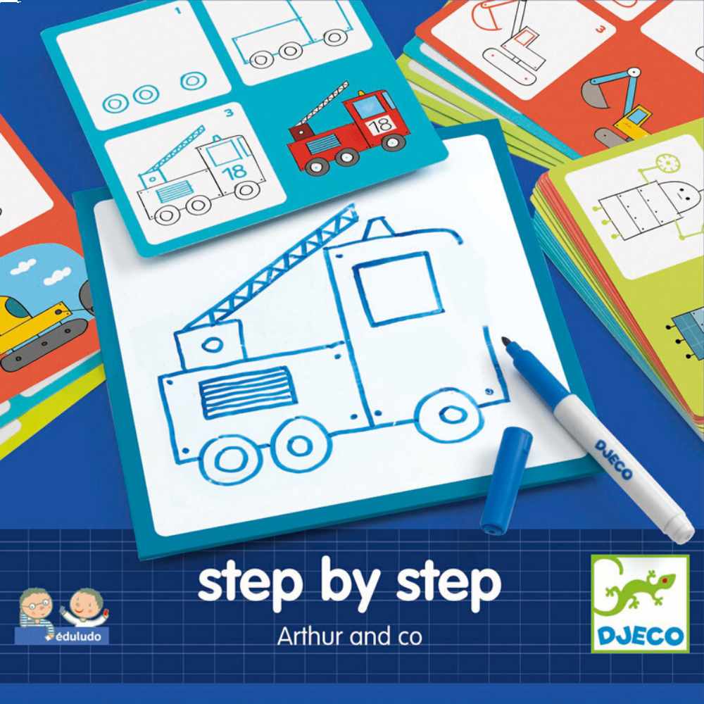 Learn to Draw - Djeco Step by Step Arthur