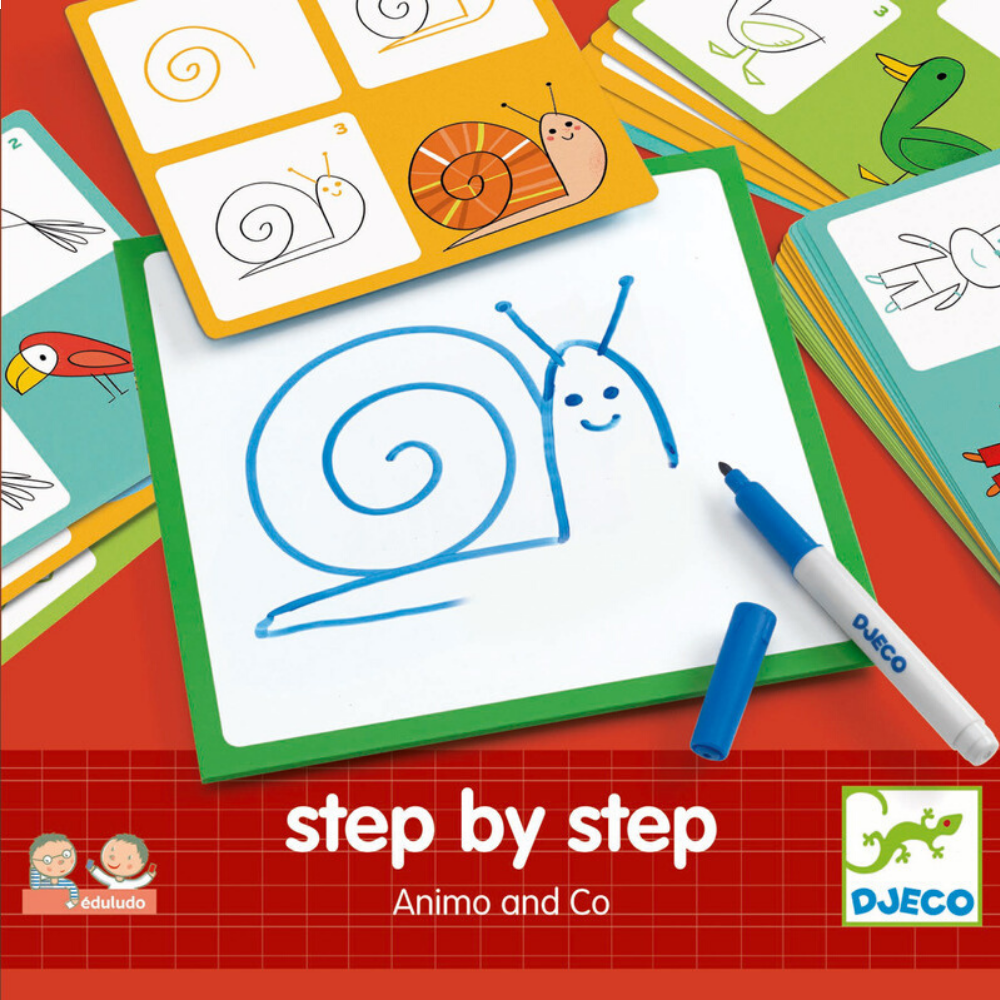 Learn To Draw Animals - Djeco Step by Step Animals