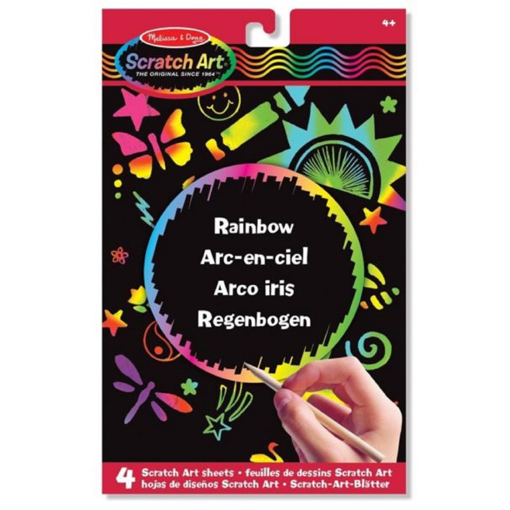 Melissa and Doug Rainbow Scratch Art