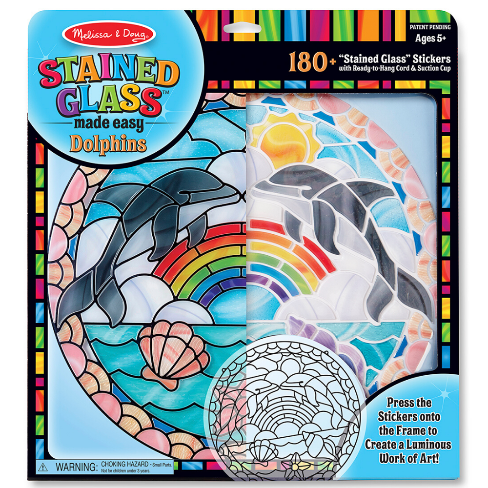 Melissa and Doug Stained Glass - Dolphin
