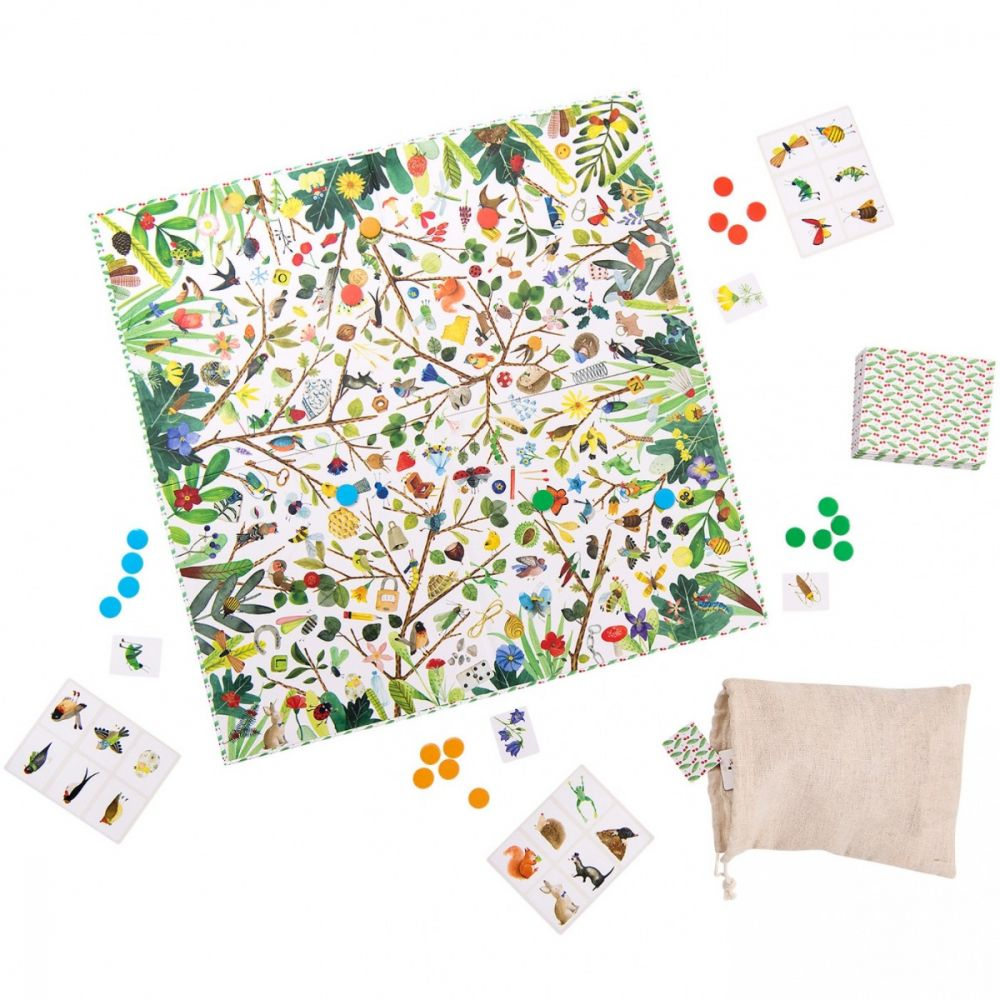 Treasures of the garden - family game of observation and speed