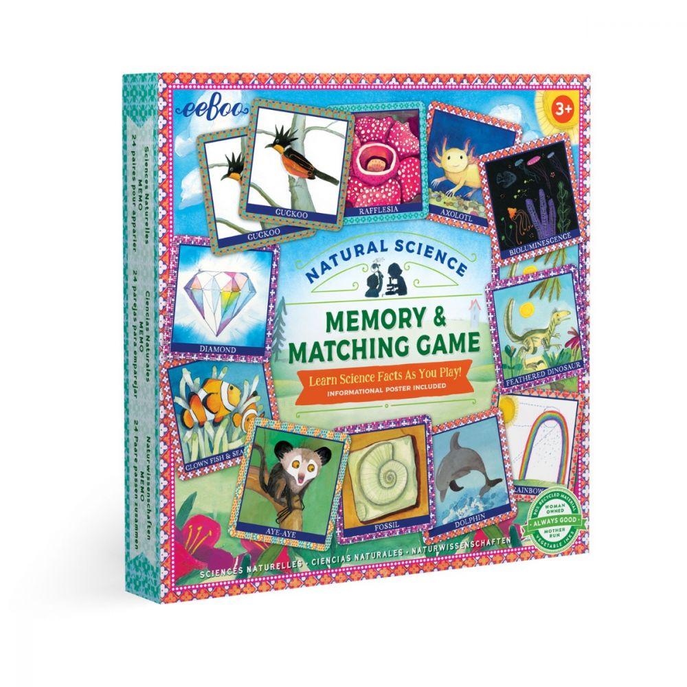 Eeboo Natural Science Memory & Matching Game MGSCI