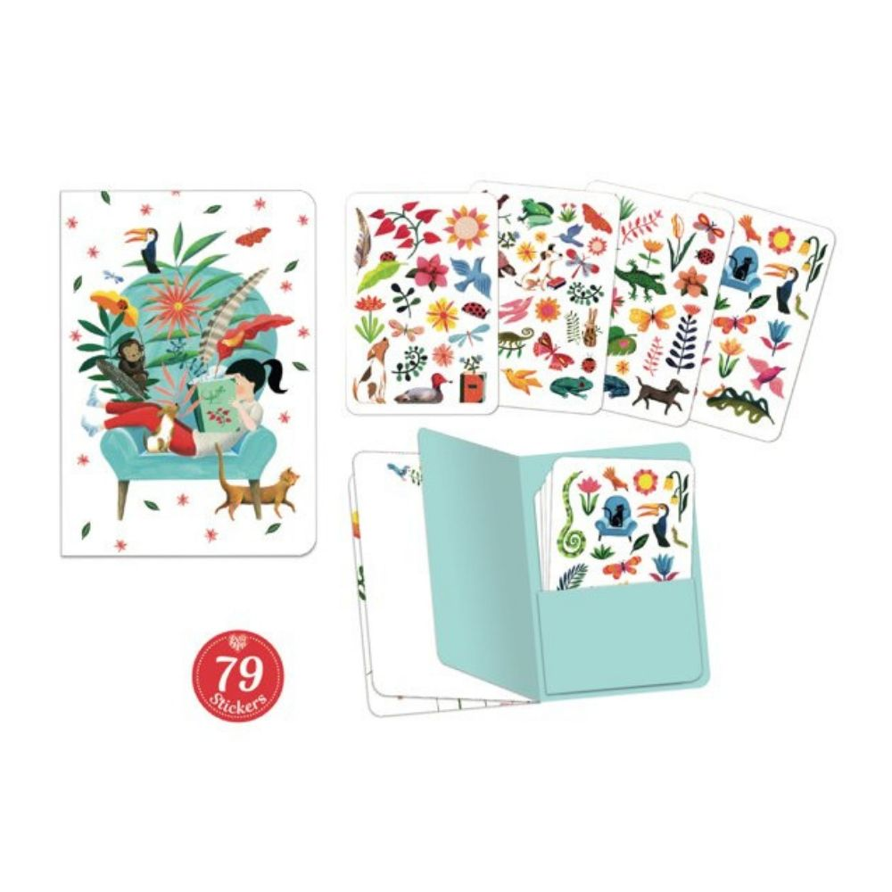 Djeco Lovely Paper - Notebook Stickers Sarah