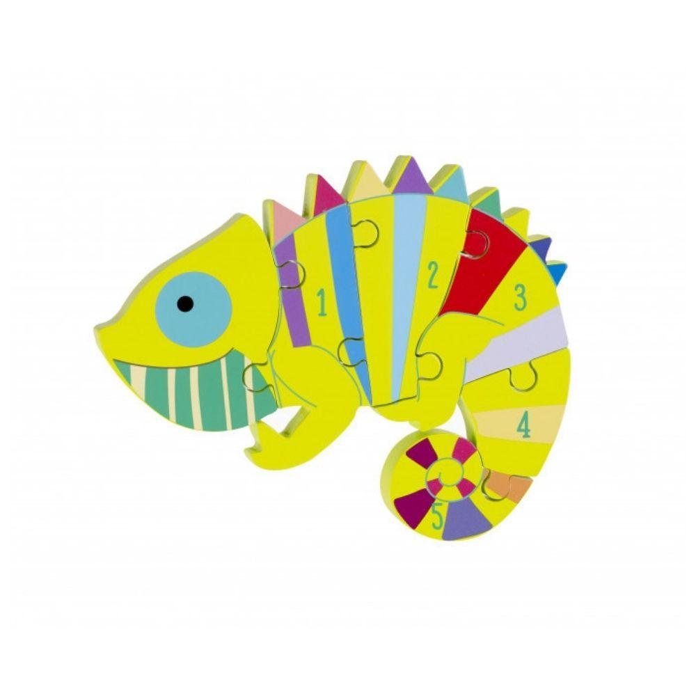 Orange Tree Toys - Chameleon Number Puzzle OTT05711