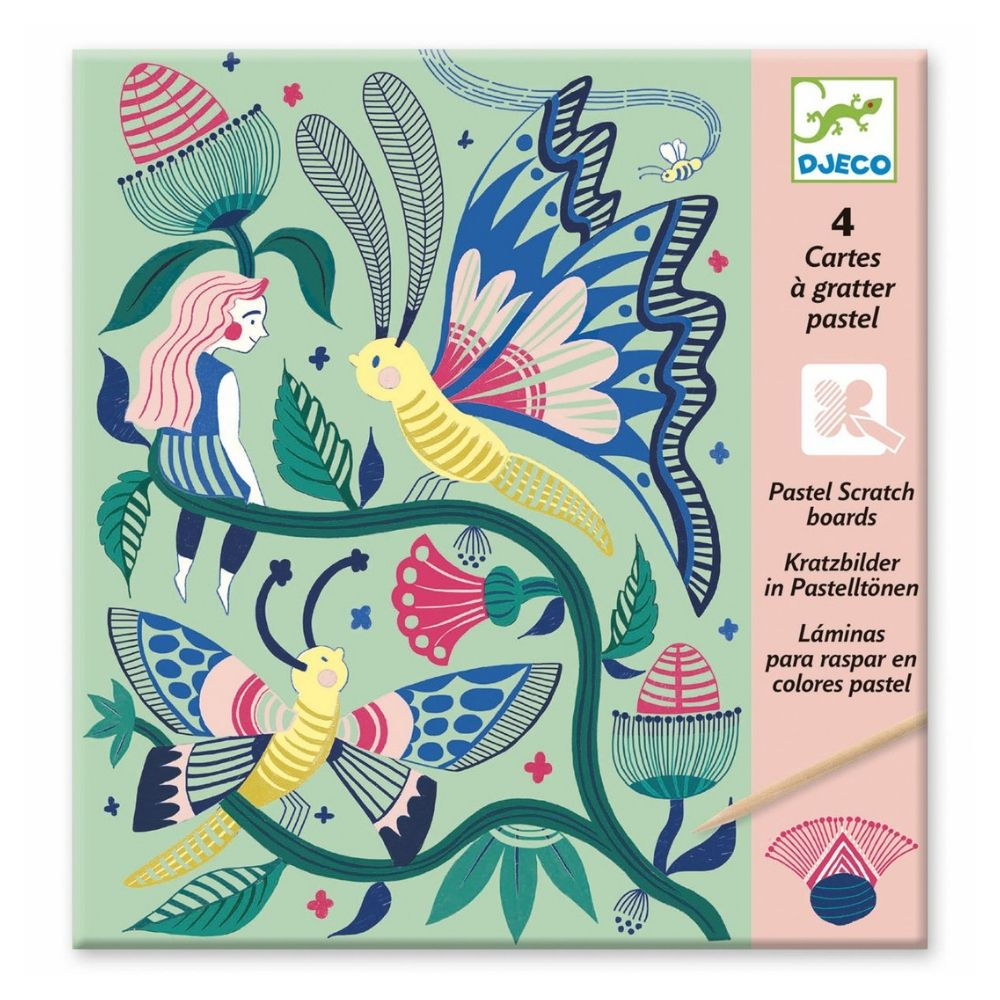 Pastel Scratch Boards - Fantasy Garden